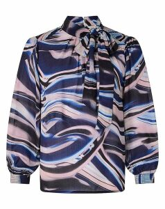 Monsoon Mabel Marble Print Blouse
