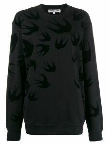McQ Alexander McQueen Swallow print sweatshirt - Black