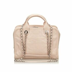 Chanel Pink Caviar Deauville Bowling Bag