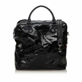 Gucci Black Coated Canvas Joy Boston Bag