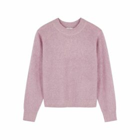 Vince Pink Brushed-knit Jumper
