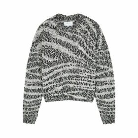 Current/Elliott Cybill Monochrome Chunky-knit Jumper