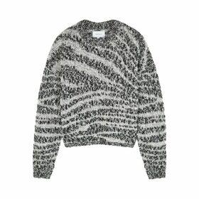 Current/Elliott Cybill Monochrome Chunky-knit Jumper