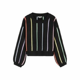 Olivia Rubin Hallie Striped Sequin-embellished Jumper