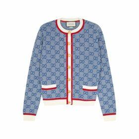 Gucci GG-intarsia Wool-blend Cardigan