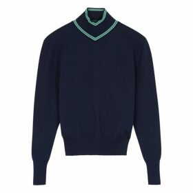 Maggie Marilyn Make A Difference Navy Merino Wool Jumper