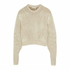 Chloé Cream Chunky-knit Wool-blend Jumper