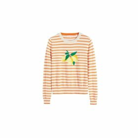 Chinti & Parker Orange Stripe Lemon Sweater