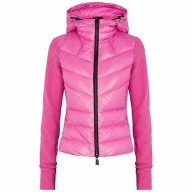 Moncler Grenoble Pink Shell And Fleece Jacket