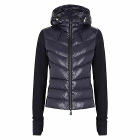 Moncler Grenoble Navy Shell And Fleece Jacket