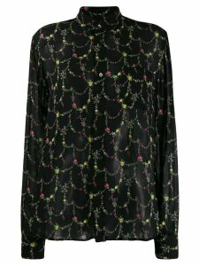 Junya Watanabe floral print blouse - Black