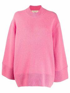 Maison Kitsuné oversized zipped-sides jumper - Pink