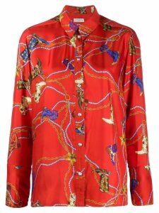 Sandro Paris boot print blouse - Red