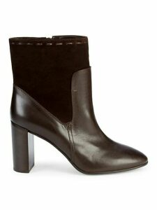 Fineena Suede & Leather Booties