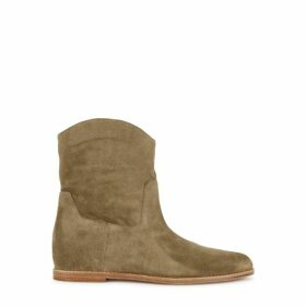 Vince Sinclair Taupe Suede Ankle Boots