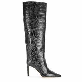 Jimmy Choo Mavis 85 Crocodile-effect Leather Knee-high Boots