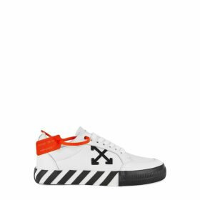 Off-White Vulcanised White Leather Sneakers