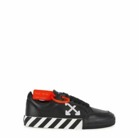 Off-White Vulcanised Black Leather Sneakers