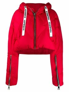 Khrisjoy cropped puffer jacket - Red