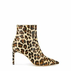 Sophia Webster Rizzo 85 Leopard-print Calf Hair Ankle Boots