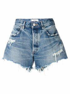 Moussy Vintage distressed denim shorts - Blue
