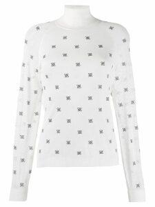Fendi high collar pullover - White