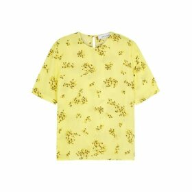 Samsøe & Samsøe Amabel Yellow Floral-print Top