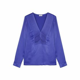 BY MALENE BIRGER Shannon Blue Satin Top