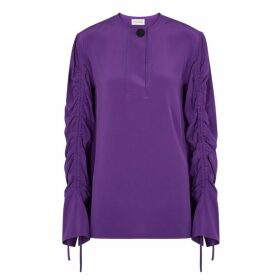 BY MALENE BIRGER Katya Purple Silk Blouse