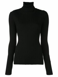 Proenza Schouler Lightweight Ribbed Turtleneck Sweater - Black