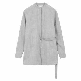 Jil Sander Giusy Grey Wool-blend Shirt