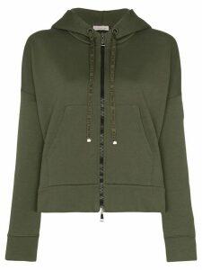 Moncler logo-string hoodie - Green