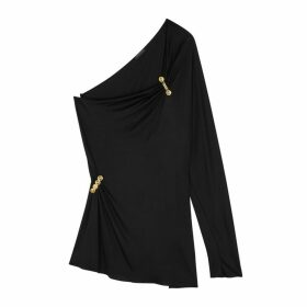 Versace Black One-shoulder Jersey Top