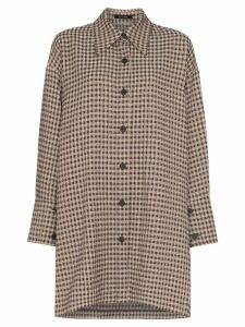 Low Classic checked oversized shirt