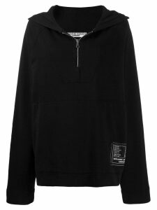 Katharine Hamnett London hooded oversized sweatshirt - Black