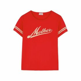 Mother Lil Goodie Goodie Red Cotton T-shirt
