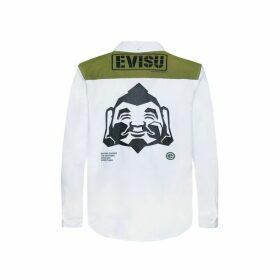 Evisu Geometric Godhead Printed Shirt