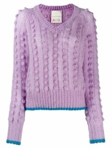 Marco De Vincenzo chunky bobble knit jumper - PURPLE