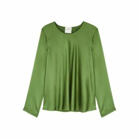 Forte forte Green Silk-satin Top