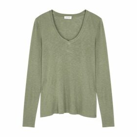 American Vintage Kobibay Olive Cotton-blend Top