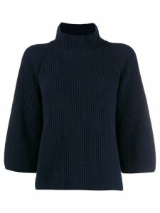 Gentry Portofino funnel neck jumper - Blue