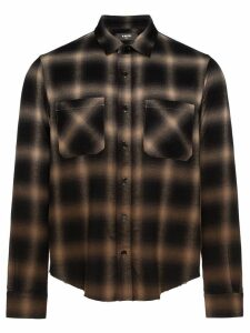 AMIRI gradient plaid shirt - Green