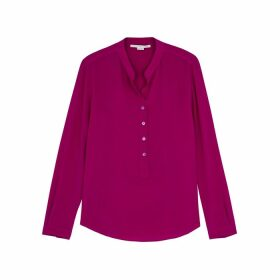 Stella McCartney Eva Raspberry Silk Blouse