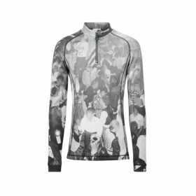 Burberry Long-sleeve Rave Print Stretch Jersey Top