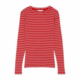 MADS NORGAARD Tuba Striped Cotton Top