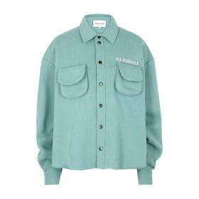 Natasha Zinko Aqua Oversized Jersey Shirt