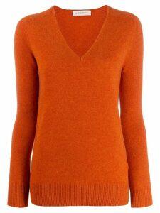 Gentry Portofino cashmere v-neck jumper - ORANGE