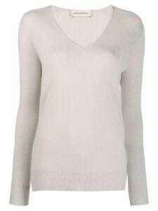 Gentry Portofino cashmere v-neck jumper - NEUTRALS