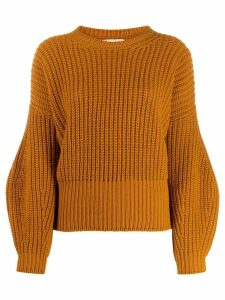Gentry Portofino balloon sleeve jumper - Brown