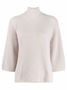 Gentry Portofino funnel neck jumper - NEUTRALS